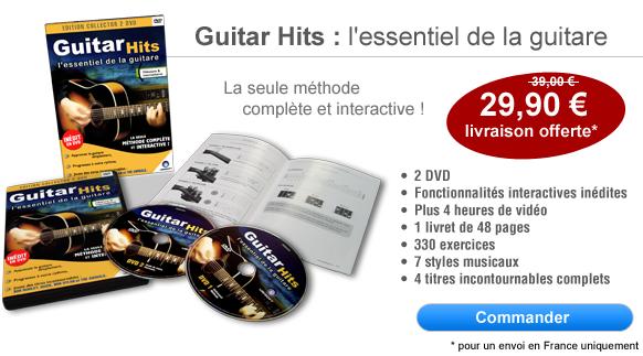 Commander le DVD Guitar Hits : l'essentiel de la guitare, la seule méthode de guitare complète et interactive
